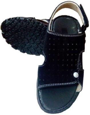 Y & J Girls, Boys Black Sandals