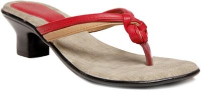 Select Women Red, Beige Heels
