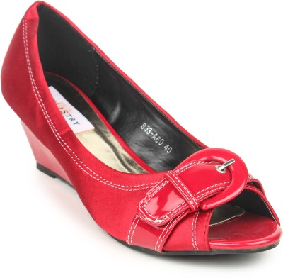 Stylistry Women Red Wedges
