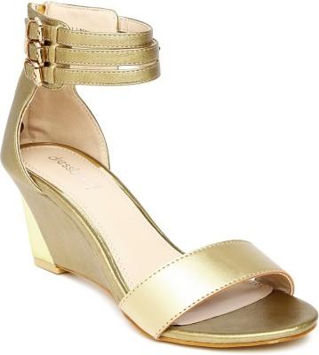 Dressberry Women Gold Heels at flipkart