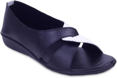 Fabme Sober Women Black Flats