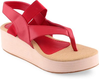 Shuz Touch Women Red Wedges