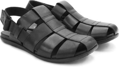 Clarks Valor Sky Black Leather Men Black Sandals