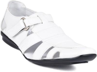Twin Men White Sandals