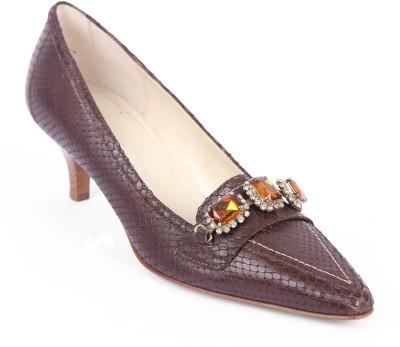 Moda Di Fausto Women Brown Heels
