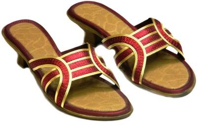 Celebrity Women Red, Gold Heels