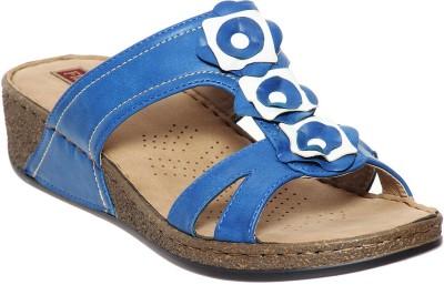 Flat n Heels Women Blue Wedges
