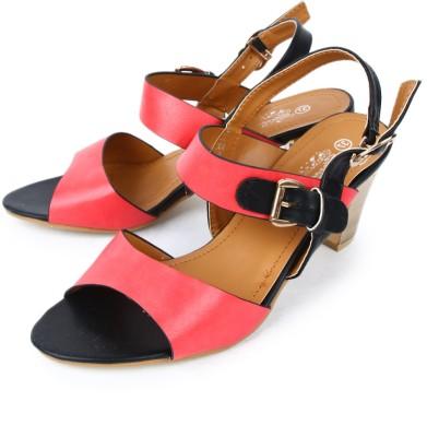 Starchi Women Red, Black Heels