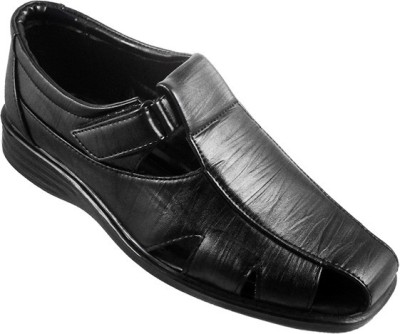 Action Synergy Men Black Sandals