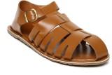 Invictus Men Tan Sports Sandals