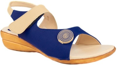 Dolphin Miles Women Blue Wedges
