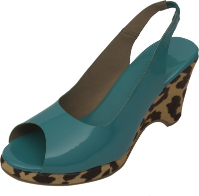 Strapup Women Blue Wedges