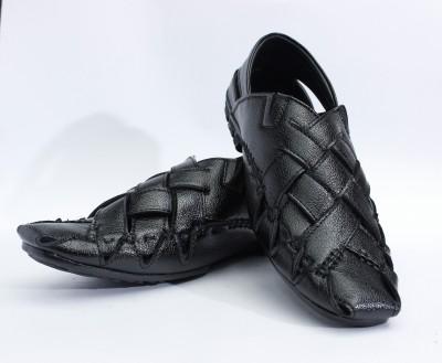 Ashirwad Men Black Sandals