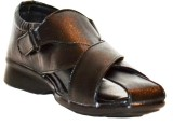 Glaze Men Black Sandals