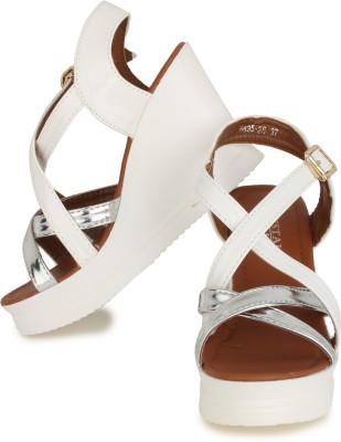 Indian Nation Women White Heels