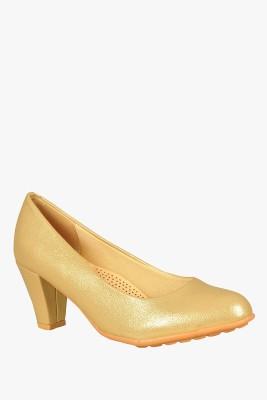 SOLE TO SOUL Women Gold Heels