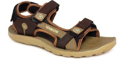 Walkline Men Brown Sports Sandals