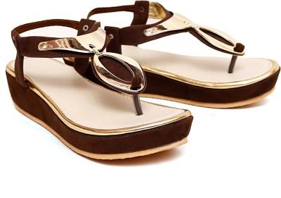 Royal Footwear Women Brown Wedges