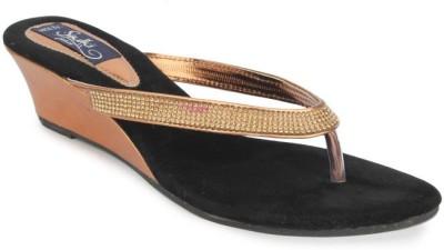 Sindhi Footwear Women Brown Wedges