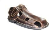 DERA Men Brown Sandals