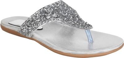 Glitzy Galz Women Silver Flats