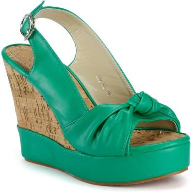 Aqua Women Green Wedges