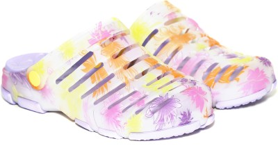 Craze Shop Women Purple, Multicolor Clogs