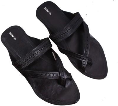 Sushito Men Black Flats
