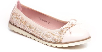 Pavers England Girls Pink Flats