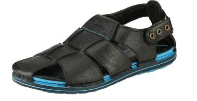 Ronaldo Men Black Sandals