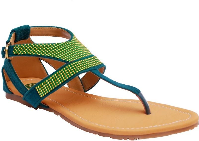 Ilo Women Green Flats