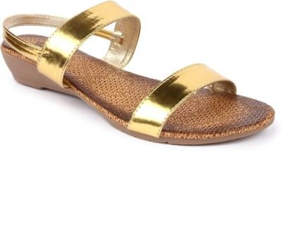 Jove Women Gold Flats