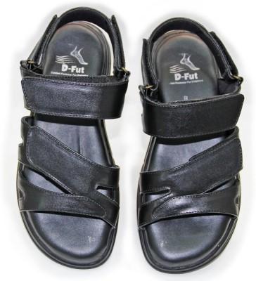 D Fut Men Black Sandals