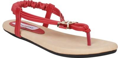 Stylistry Nicole Maroon Women Women Red Flats