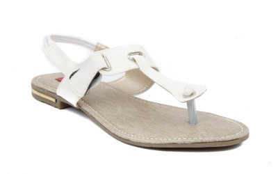 Credos Women White Flats