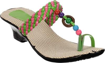 Brandvilla Women Green Heels