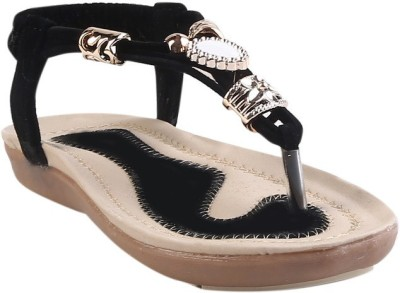 Glinchy Girls Black Flats