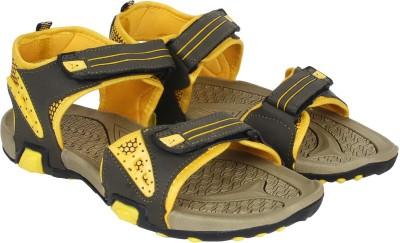 Aero Men Black, Yellow Sandals
