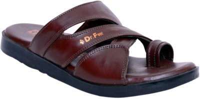Dr. Feet Men Brown Sandals