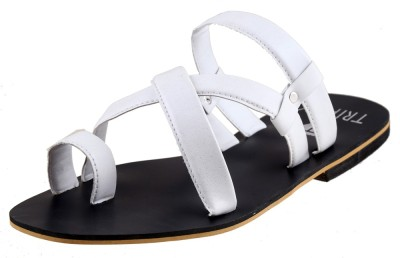 Tripssy Men White Sandals
