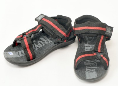 Ajanta Boys Black Sandals