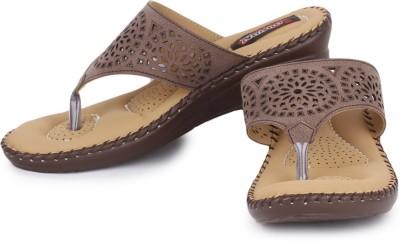 Naisha Women Brown Wedges
