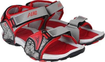 Aero Men Black, Red Sandals