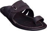 Suri Leather Men Black Sandals