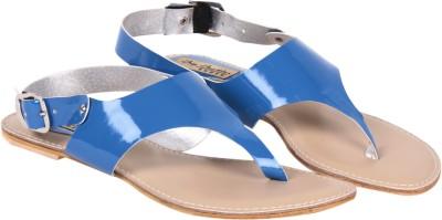 Big Buckles NEO Women Blue Flats