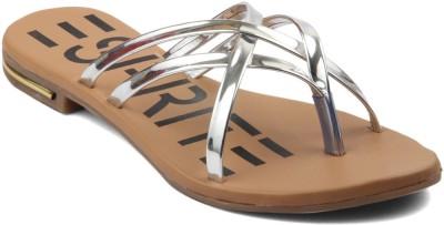 Infiniti Women Silver Flats