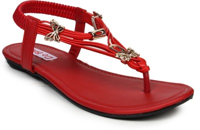 Do Bhai she-Red Women Red Flats