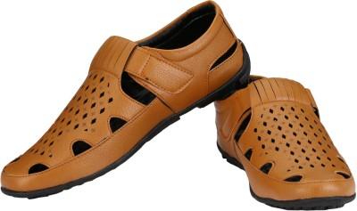 Little Step Men Tan Sandals
