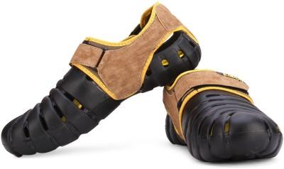 Globalite Parko VI Men Black, Yellow Sandals