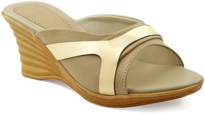 Laila Collection Women Beige Wedges